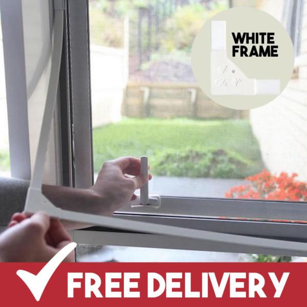 white frame magnetic flyscreens buy online uk